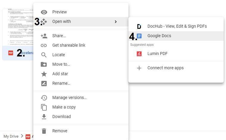 Quickly Convert a PDF into a Google Doc – DCSD EdTech